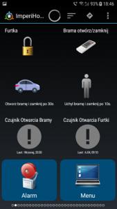 Otwieranie bramy przy pomocy smartfona